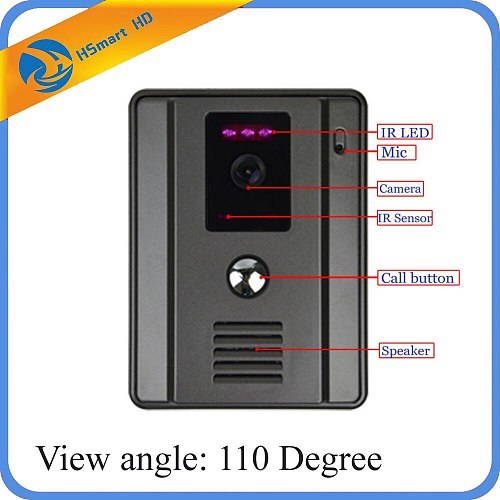 For Wired Video Door Phone Intercom Entry System 1 Color Wide Angle Night Vision 2.5mm Lens Outdoor Camera