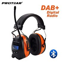 Protear DAB+/DAB/FM Radio Hearing Protector 25dB Lithium Battery Earmuffs Electronic Bluetooth Headphone Ear Protection