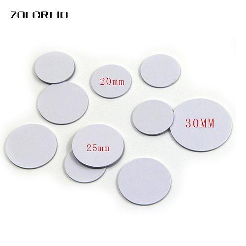 10pcs/lot 13.56MHZ/125KHZ  RFID Coin tag 30/25/20mm diameter coil ultra thin slim NFC coin tag
