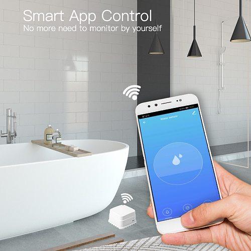 4 pcs WiFi Smart tuya water leakage sensor agua smart life Flood Overflow Detector Alert Security Alarm APP instant push siren