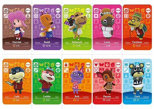 Animal Crossing Card Amiibo Card Work For Ns Games Series 1 Animals Crossing 1 To 30