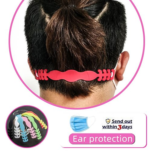 8PCS/4PCS Soft Black Masks Straps Extended Buckle Ear Protector For Filtration Anti Bacteria Mask Unti-Pain Adjustment Holder
