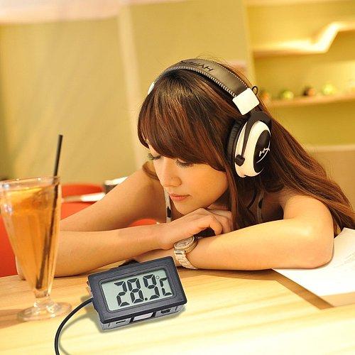 TL8009 Mini Digital LCD Thermometer for Refrigerator Fridge Freezer Temperature  Black Indoor Kitchen Metasure
