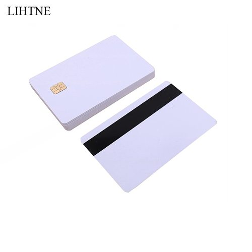 1PCS Smart IC Cards SLE 4442 Chip With Hico Magnetic Stripe 2 in 1 Blank PVC Contact IC Cards
