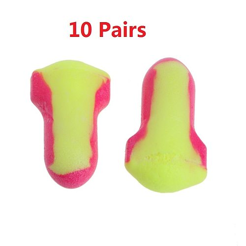 ESCAM  10 Pairs Disposable Soft Foam Earplugs Snore-Proof Sleep Ear Protector No Cords