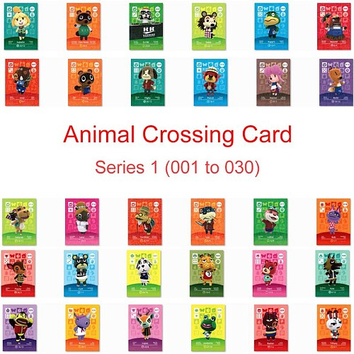 Series 1 (001 to 030) Animal Crossing Card Amiibo Card Work for NS 3DS Switch Game New Horizons Animal Crossing Amiibo Card