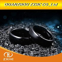 RFID Black Ceramics Smart Finger Ring 125KHZ/13.56MHZ Wear for Men or Women