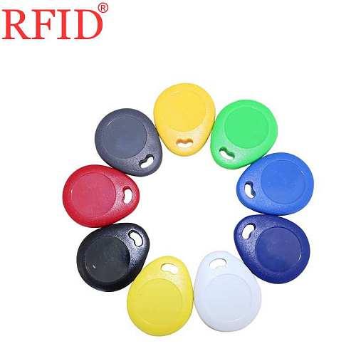 ID 125KHZ EM4305 Writable Rewritable Keyfob RFID Waterproof Badge Token keyfob Tags Keychain Access Control Card Fast Shipping 1