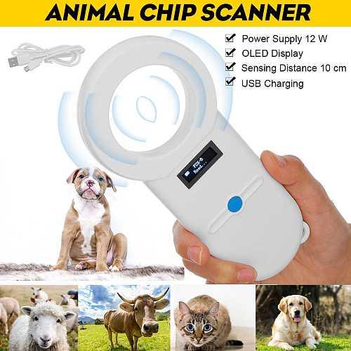 Pet Microchip Scanner Animal Pet ID Chip Reader Handheld Pet Scanner USB RFID Reader For Dog Cat Horse 134.2Khz ISO FDX-B