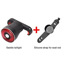 Q5 Aluminum Alloy USB Charging Smart Brake Tail Light For Bicycle