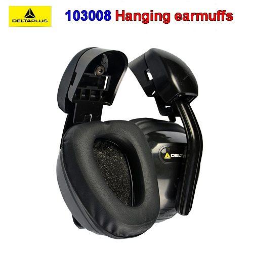 DELTA PLUS 103008 Hanging earmuffs profession Anti-noise earmuffs ABS shell Memory foam cotton Safety helmet earmuffs