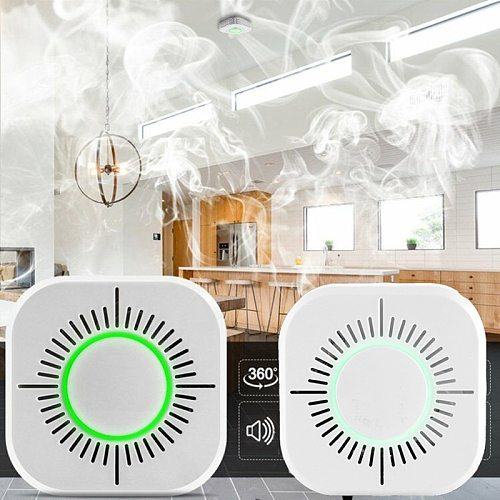 Wifi 433MHz Wireless Smoke Detector Fire Protection Portable smoke detectors Home Safe Security smoke alarm Sensor Systerm parts