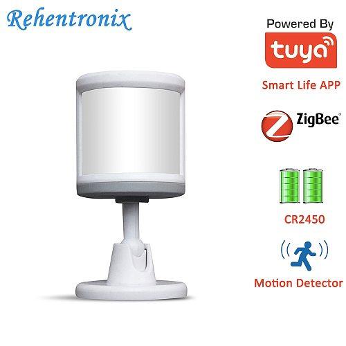 Work with ZigBee Alexa Echo Show, Echo Plus Battery Powered Smart Motion Sensor Detector ZigBee3.0 PIR Tuya