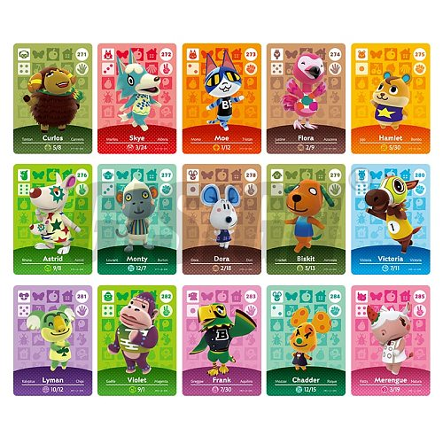 New Horizons Amiibo Animal Crossing Card For NS Switch 3DS Game Marshal Card Set NFC Cards Series 3 (271 to 300) 285 Merengue