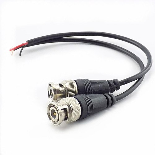 1Pc BNC Female Connector to Female Adapter DC Power Pigtail Cable CCTV Line BNC Connectors Wire for CCTV Camera Security System