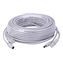 ANPWOO 5M/10M/20M/30M Optional 2.1mm/5.5mm jack RJ45 + DC Power Extension Ethernet CCTV Cable For IP Cameras NVR System