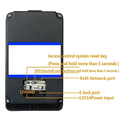 HD 720P Wireless WIFI RFID Password Video Door Phone Doorbell Intercom System Night Vision + Electric Strike Lock