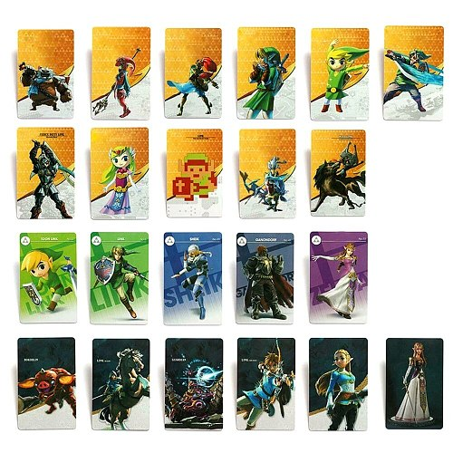 24Pcs NFC Amiibo Game Cards For Nintendo Switch & Wii U The Legend Of Zelda Give you a higher game experience
