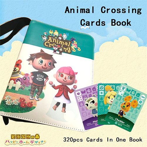 Gathering Animal Crossing Villagers Exquisite Leather Cover Cards Book For Standard Cards Linkage Card Book (Card Not Included)