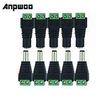 ANPWOO Smart Electronics Male Female 5.5 x 2.1mm DC Power 12V 24V Jack Adapter Connector Plug CCTV Camera