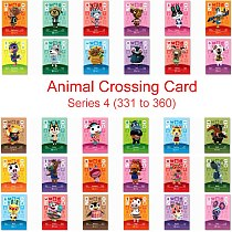 Series 4 (331 to 360) Animal Crossing Card Amiibo Card Work for NS 3DS Game Switch New Horizons Lolly Fang Villager Card Amibo