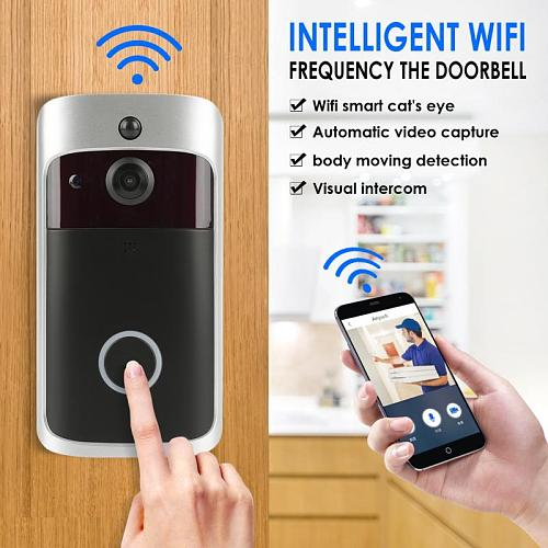 M3S Wifi Smart Video Camera Doorbell IP Ring Doorbell Two Way Audio Control Wireless IOS Android Battery Powered Application