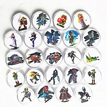 New Data Full Set 24Pcs The Legend of Zelda Collection Coin Card NFC Tag For Amiibo Card Ntag215 NS Switch WiiU Link's Awakening