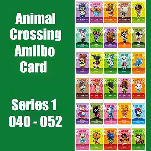 Series 1 #40-52 Animal Crossing Cards Amiibo Card Work for NS Games Switch Series 1 Dropshipping Support Customized Card