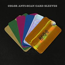 New 10Pcs Color Anti-magnetic Credit Bank Card Sleeves Protector Aluminum Foil Anti-Scan Card Holder Access Control Card Keeper