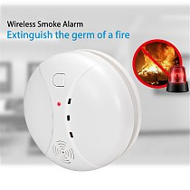 PGST 433MHz Wireless Fire Sensor Smoke Detector For PG106 103 WIFI GSM office home security Alarm System Auto Dial alarm Systems