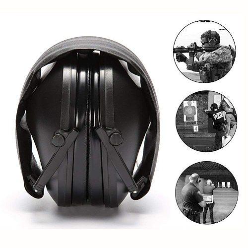 Anti Noise Ear protector Tactical Shooting Earmuff Adjustable Foldable Snore Earplugs Soft Padded Noise Canceling Headset