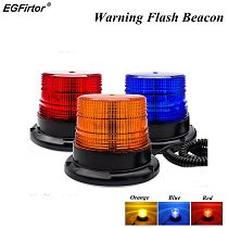 Warning Flash Beacon Emergency Indication LED Lamp Car Rotating Traffice Safety Light Magnet Ceiling Box Flash Strobe