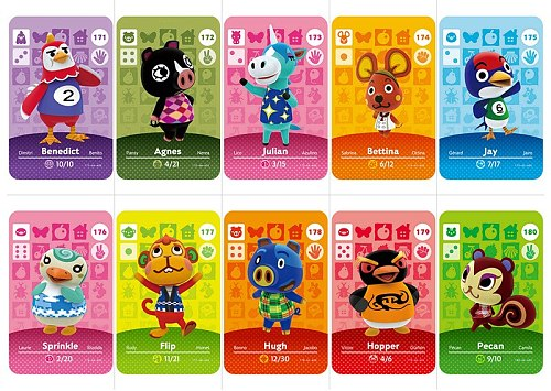 Animal Crossing Amiibo Card Amiibo Card Animal Crossing series 2 Nfc Card 151 to 180 Work for Ns Games Free Shipping