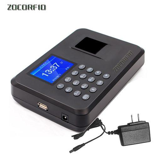 Biometric Attendance System USB Fingerprint Reader Time Clock Employee Control Machine Electronic Device More language