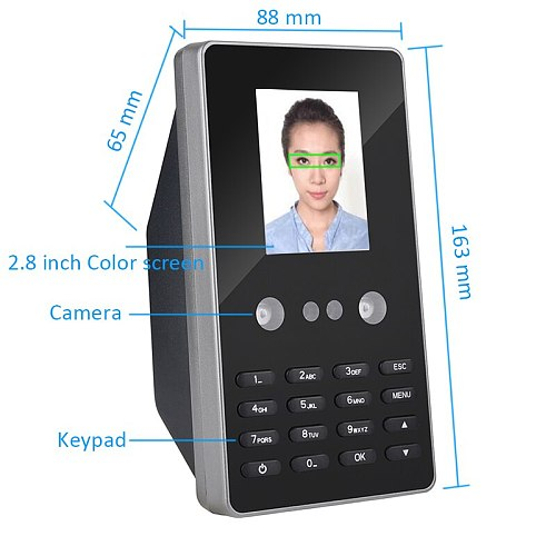 Self Service Report Biometric Face Time Attendance Office Time Clock Employee Recorder