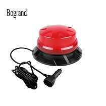 Bogrand 9-28V led rotating flashing amber emergency strobe warning beacon light with magnetic