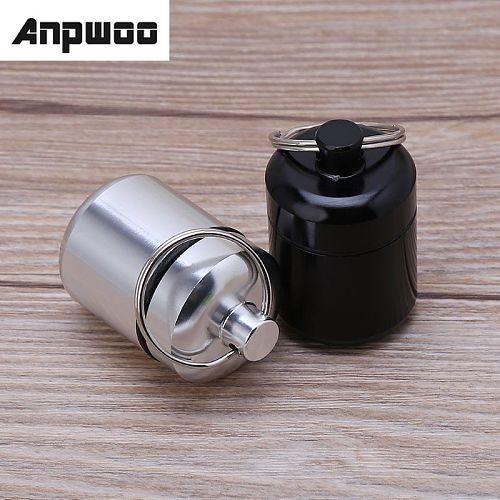 ANPWOO Mini Portable Aluminium Alloy Pill Box Carrying Bottle Case Noise Canceling Hearing Protection Earbuds Earplugs