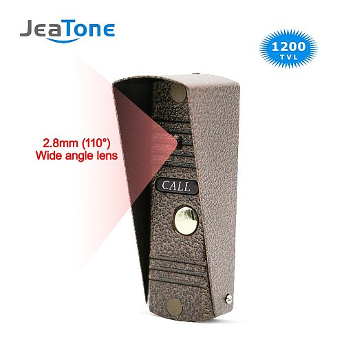 Door Phone Intercom Home Security Video Intercom Apartment doorbell video IR Night Vision Outdoor Call Panel Wide Angle Lens