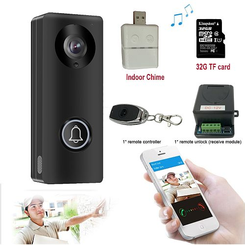 Video Door Phone Doorbell Wired Video Intercom Monitor 1080P HD Camera With Unlock Remote Contorl Indoor Chime Yoosee App