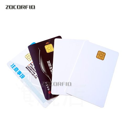Blank PVC SLE-4442 IC card/ISO7816-3 SiM Contact IC card / SLE4428 smart card