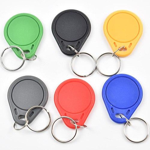 100Pcs RFID Keytags Mifare 13.56MHz 14443A M1 S50 Smart IC Key Ring Tag Keyfob Token Access Control