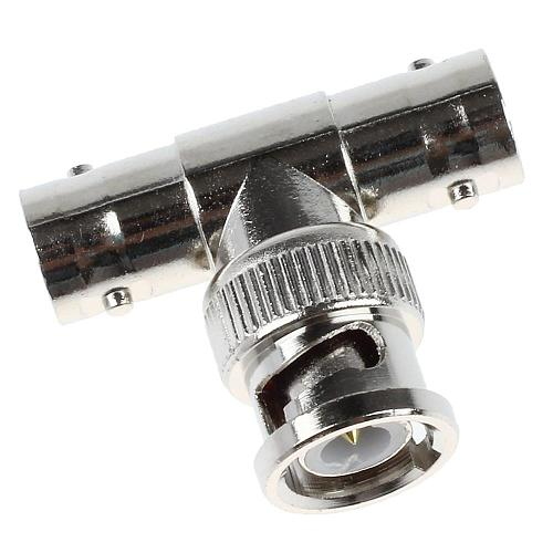 2pcs 5pcs 10pcs JR-B28 Right Angle tee BNC junction  female  male CCTV BNC Connector rg58 rg59 rg6 connector