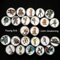 24Pcs/Set Zelda Breath Of the Wild Game Collection Coin Amiibo NFC Card Link's Awakening Mario NS Switch Wii U Fast Shipping