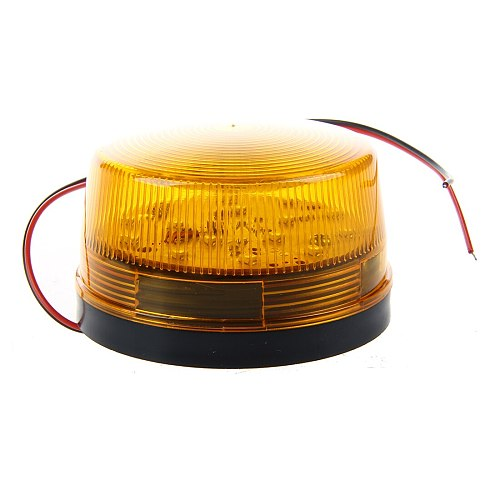 12V Security Alarm Strobe Signal Safety Warning Blue/Red Flashing LED Light Orange-Hot