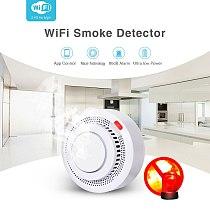 AVATTO Tuya WiFi Smart Smoke Detector, Smart Life APP Fire Alarm Sensor Home Security System Firefighters Smart Home Automation