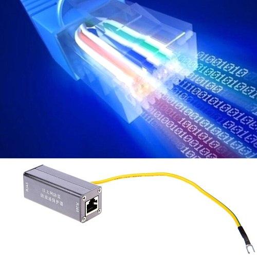 Ethernet Network Card RJ45 Surge Protector Thunder Lightning Arrester Protection Device