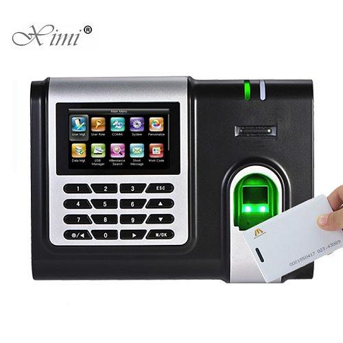X628-C Fingerprint Time Attendance 3 Inch Color Screen TCP/IP Biometric Fingerprint Time Clock With 125KHZ RFID Card Reader