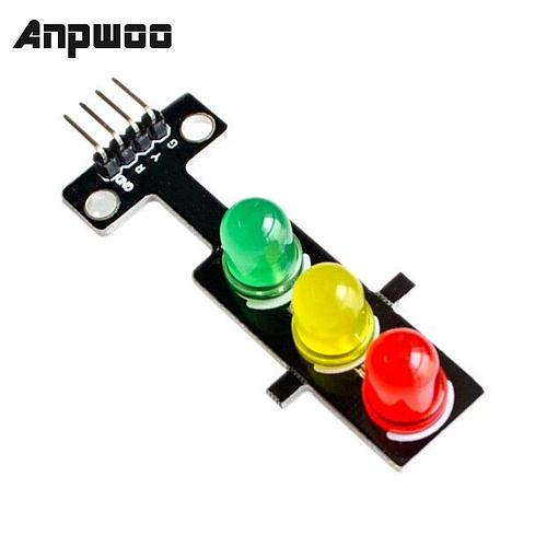 ANPWOO Led Traffic Light Module 5V Digital Signal Output Ordinary Brightness 3 Light Separate Control