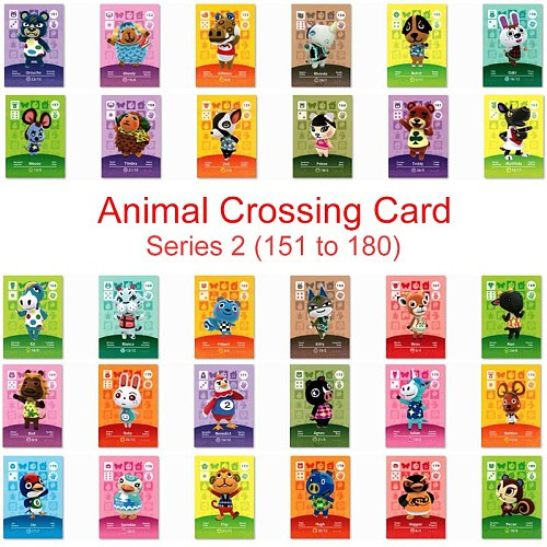 Series 2 (151 to 180) Animal Crossing Card Amiibo Card Work for NS 3DS Game Switch New Horizons Pekoe Beau Julian Villager Card