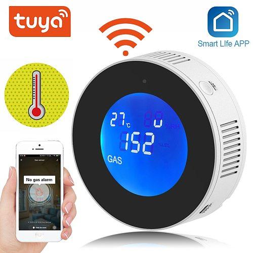 Tuya WiFi GAS Leak Detector Smart LCD Display  Leakage Sensor Alarm Home automation Security Alarm Smart life APP Control